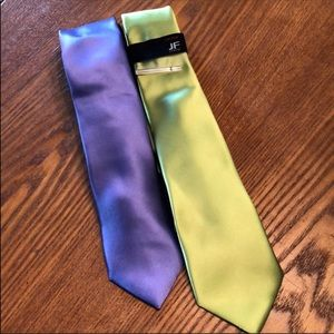 Other - Skinny ties 2 for one 2.5-3 inches wide NWT
